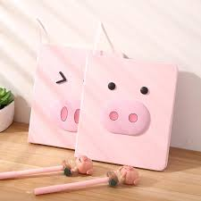 <b>Cute</b> Pink Pig Style Notebook 80 Sheets <b>Creative</b> Cartoon Notepad ...