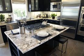stove in kitchen island white granite kitchen island with built in stove top