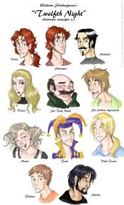 twelfth night shakespeare directed by kenneth branagh this is a nice cartoon drawing of all the characters it does a good job