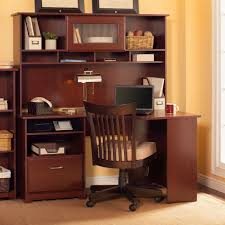 home office furniture cherry finished mahogany solid wood corner desk for work station in cherry finished bush desk hutch office