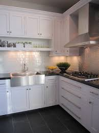 Kitchens Floor Tiles Kitchen White Cabinet Dark Grey Floor Tiles Stuff Pinterest