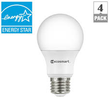 ecosmart w equivalent soft white a energy star dimmable led 40w equivalent soft white a19 energy star dimmable led light bulb 4 pack