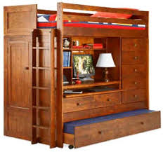 amazoncom bunk bed all in 1 loft with trundle desk chest closet paper plans so easy beginners look like experts build your own using this step by step bunk bed desk