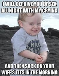 Evil baby strikes again!! - Imgur via Relatably.com