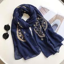 Fashion Aztec Ethnic Cashew Floral Viscose Shawl Scarf Ladies ...