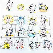 <b>38 Pcs</b> Pink <b>rabbit</b> Stickers Flakes For Diary car Decoration Diy ...