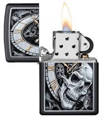 <b>Зажигалка Skull Clock</b> Design <b>ZIPPO</b> 29854