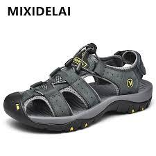 <b>MIXIDELAI Genuine Leather</b> Men Shoes Summer New Large Size ...