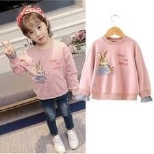 Baby Girl Tee Fall <b>2017 Autumn Winter Kids</b> Rabbit Sweatshirt Back ...