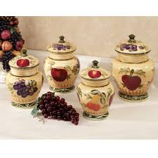 red tuscan canisters