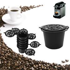 <b>6PCS Reusable Nespresso Coffee</b> Capsules Cup With Spoon Brush ...
