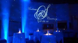 monogram lighting with uplighting and blisslight free shipping nationwide with rent my wedding blue wedding uplighting