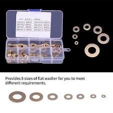 <b>180Pcs Brass</b> Flat Washer Assortment <b>Set</b> with Box M2/M2.5/<b>M3</b>/M4 ...