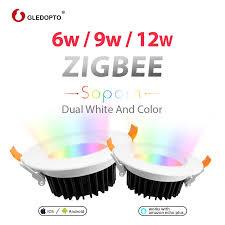 GLEDOPTO <b>ZIGBEE smart home</b> 9W LED <b>RGBcct</b> downlight APP ...