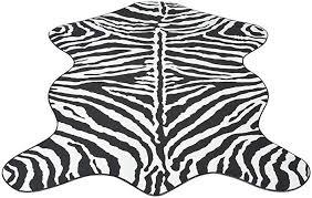 Enjoy your shopping with <b>Shaped Rug 150x220</b> cm Zebra Print ...