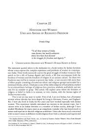 hinduism and women uses and abuses of religious dom springer inside