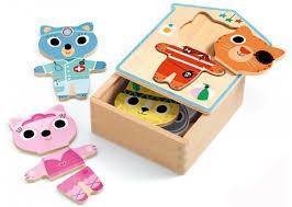 Деревянная игрушка <b>Djeco</b> Первый <b>пазл Одежда</b> - Акушерство.Ru