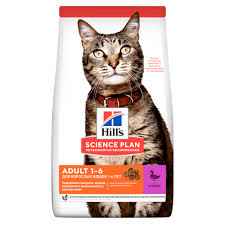 <b>Сухой корм Hill's Science</b> Plan для взрослых кошек, с уткой