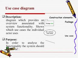 how to and where to use case diagrams   use case diagram  description