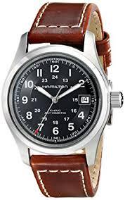 mens hamilton khaki field 38mm automatic watch h70455533 amazon mens hamilton khaki field 38mm automatic watch h70455533