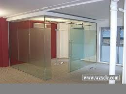 sheets of toughened modular office partitions with straight glass curved panels cheap office partitions
