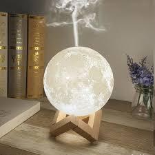 <b>880ml Ultrasonic Moon</b> Essential Oil Diffuser | LED <b>Moon</b> Humidifier ...