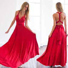 summer <b>sexy women maxi dress</b> red bandage long dress sexy ...