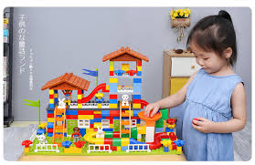 DIY Colorful <b>City House</b> Roof <b>Big</b> Particle Castle Building Blocks ...