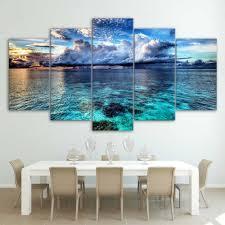 Canvas <b>HD</b> Modern Wall Art Home Decoration Living Room <b>5 Panel</b> ...