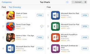 microsoft office apps sit atop the app store charts mactrast microsoft s office apps word excel and powerpoint sit atop the app store charts as the top three apps in the store