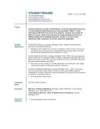 simple student resume template  seangarrette coresume examples for students template fngfkoen