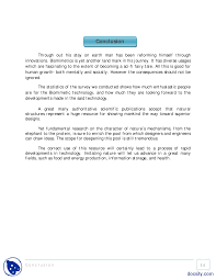 conclusion report writing skills final report biomimetics the document
