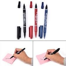 <b>3PCS 3 Colors</b> Practical Double Hand Marker Pens Waterproof Ink ...