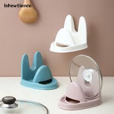 <b>1pcs Spoon Pot</b> Lid Shelf Multifunction Stand Holder Spoon Pot Lid ...