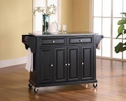 kitchen island granite top sun: kitchen  solid granite top kitchen cart island in black