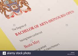 honours degree stock photos honours degree stock images alamy university degree certificate bachelor of arts honours stock image