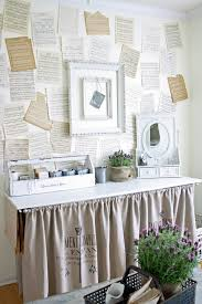 shabby chic diy decor home office shabby chic style amazing ideas with wallcoverings craft room chic home office bedroom