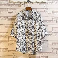 2019 Summer Men <b>Shirts</b> Brand Print Casual <b>Short Sleeve Shirt</b> ...