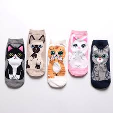 Мультфильм Кавайи <b>Носки</b> Милые животные собаки Cat Лодка ...