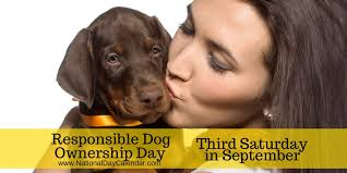 RESPONSIBLE DOG OWNERSHIP DAY - Third Saturday in ...