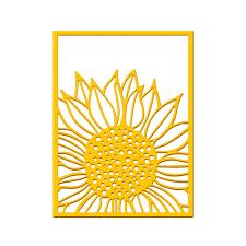 <b>YaMinSanNiO</b> Sunflower Background Dies Frame <b>Metal Cutting</b> ...