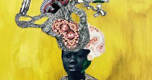 Blog   Golden Squared Consulting Kenyatta Hinkle  The Officer     s Bride        india ink  paper on wood panel