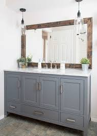 industrial farmhouse bathroom 700x1031 bathroom vanity lighting ideas combined