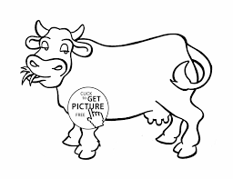 Small Picture With Good Cow Coloring Sheet Cow Coloring Pages Printable With