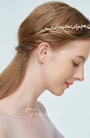 <b>Korean Forest Style</b> Sweet Pink Leaf Pearl Hair Band - June Bridals