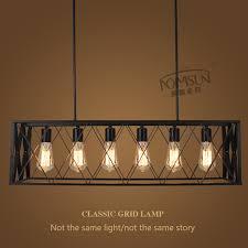 black vintage industrial pendant lights hanging light e27 edison bulb american loft style for restaurant cable pendant lighting