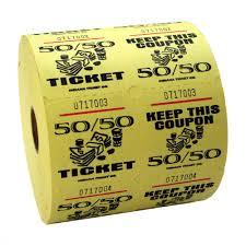 raffle tickets yellow 50 50 raffle tickets