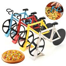 Stainless Steel Pizza <b>Knife</b> Two wheel <b>Bicycle</b> Shape <b>Pizza Cutting</b> ...