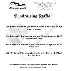 raffle announcement mountaingrass raffle poster