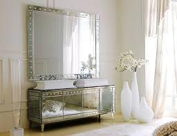 bathroom vanity mirror ideas modest classy: high end italian mirrored bathroom vanity
